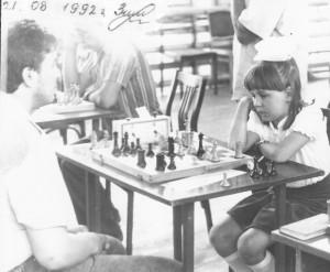 самая юная участница первого Фатьяновского шахматного фестиваля - Оля Зимина